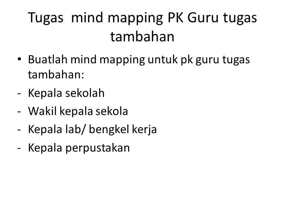 Tugas mind mapping PK Guru tugas tambahan