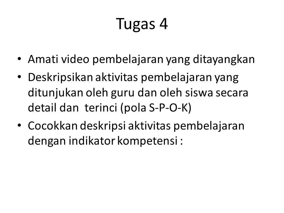 Tugas 4 Amati video pembelajaran yang ditayangkan