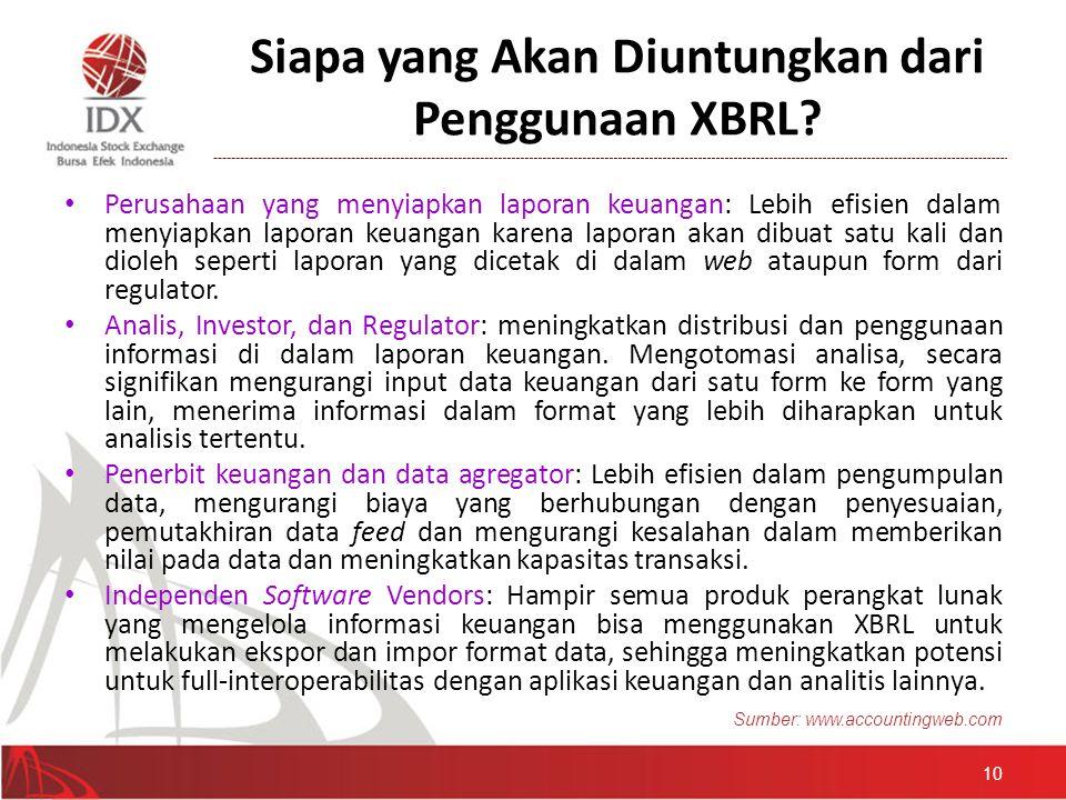 Siapa yang Akan Diuntungkan dari Penggunaan XBRL