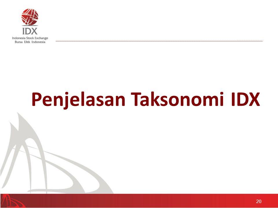 Penjelasan Taksonomi IDX
