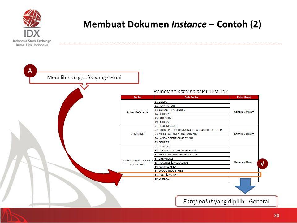 Membuat Dokumen Instance – Contoh (2)