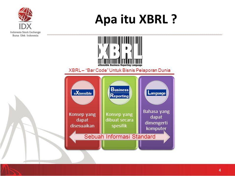 Apa itu XBRL Sebuah Informasi Standard Konsep yang dapat disesuaikan