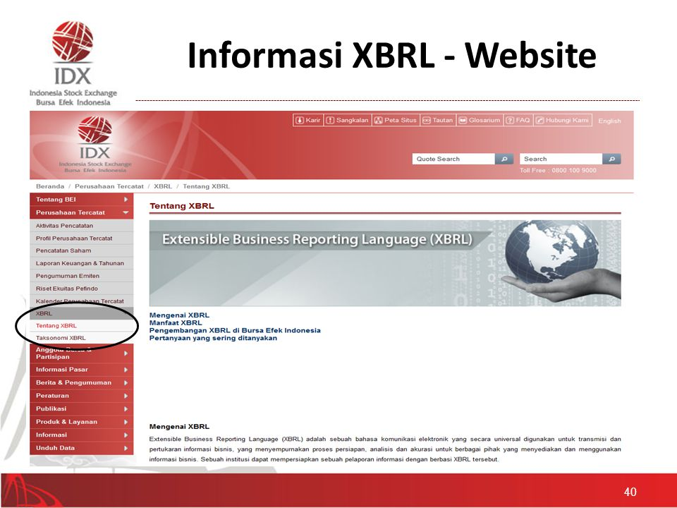 Informasi XBRL - Website