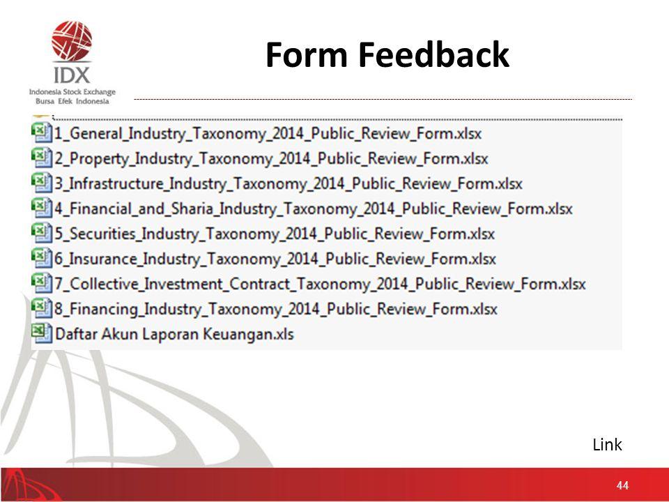 Form Feedback Link