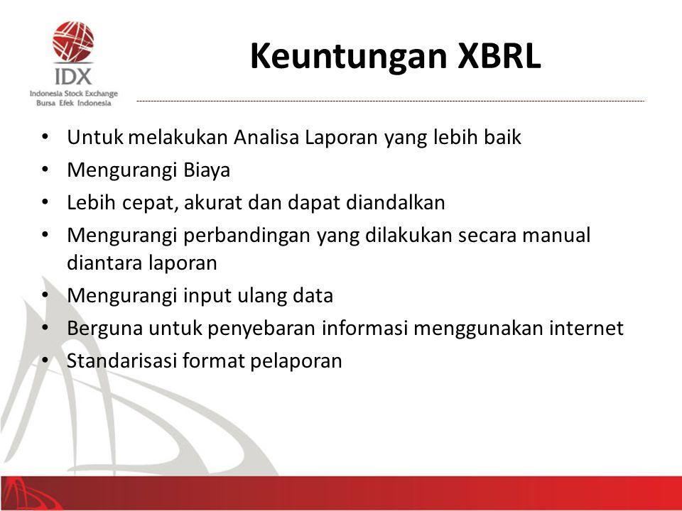 Keuntungan XBRL Untuk melakukan Analisa Laporan yang lebih baik