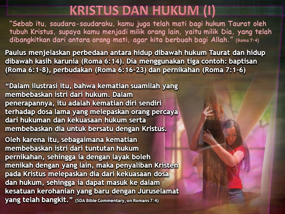 KRISTUS DAN HUKUM (I)