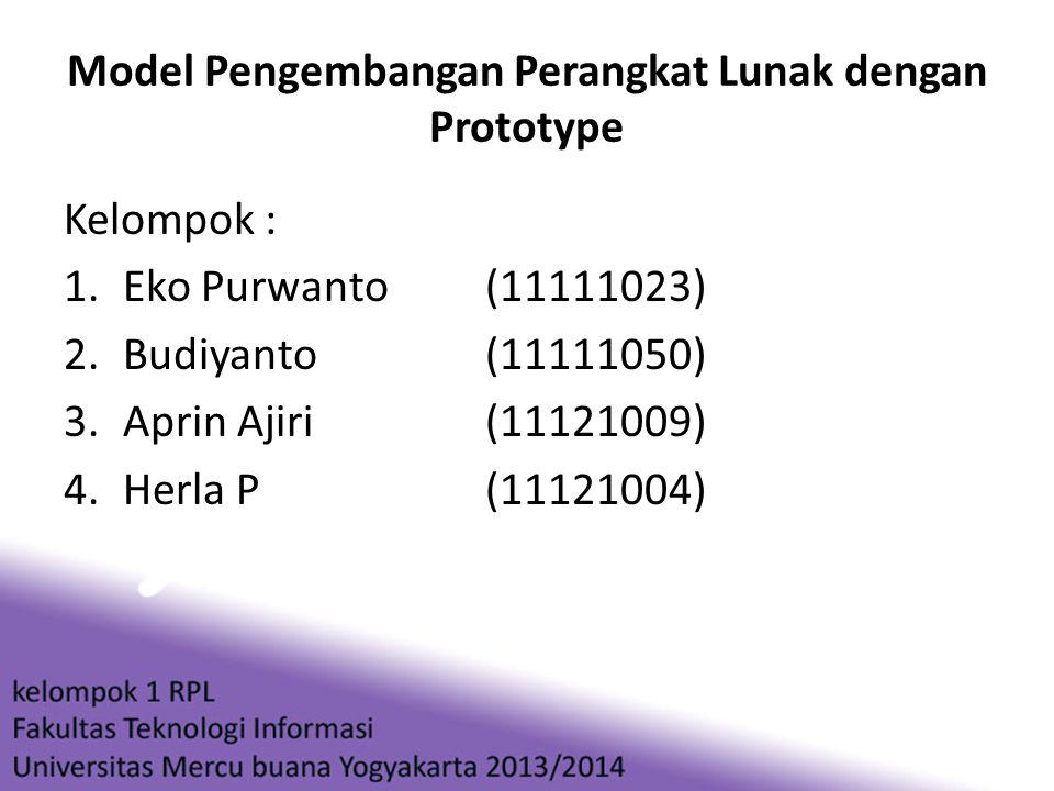 Model Pengembangan Perangkat Lunak dengan Prototype