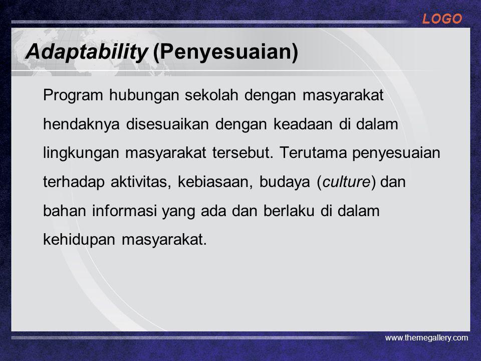 Adaptability (Penyesuaian)