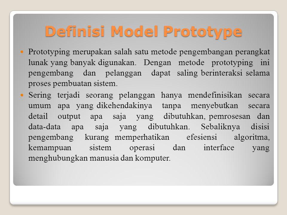 Definisi Model Prototype