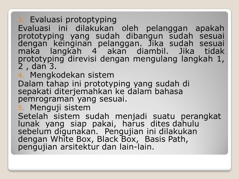 Evaluasi protoptyping