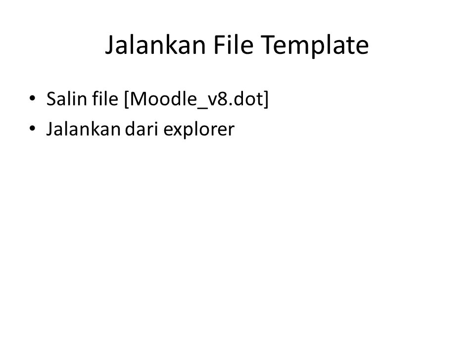Jalankan File Template