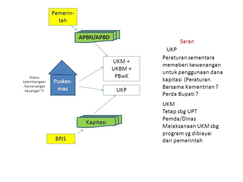 Status kelembangaan/kewenangan keuangan