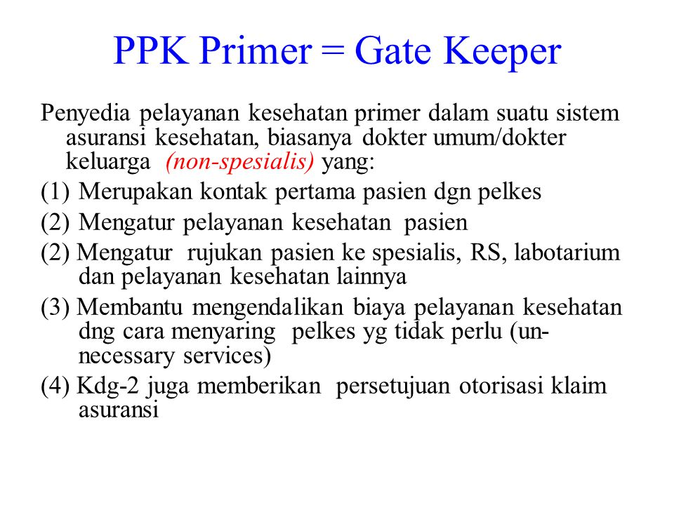PPK Primer = Gate Keeper