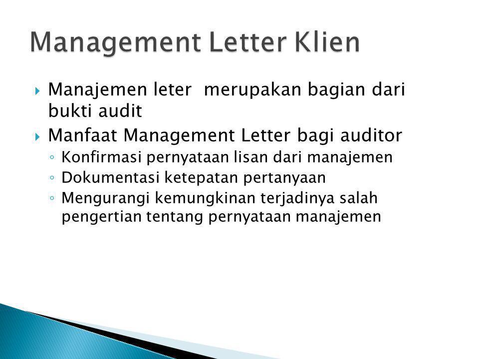 Management Letter Klien