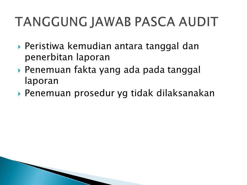 TANGGUNG JAWAB PASCA AUDIT
