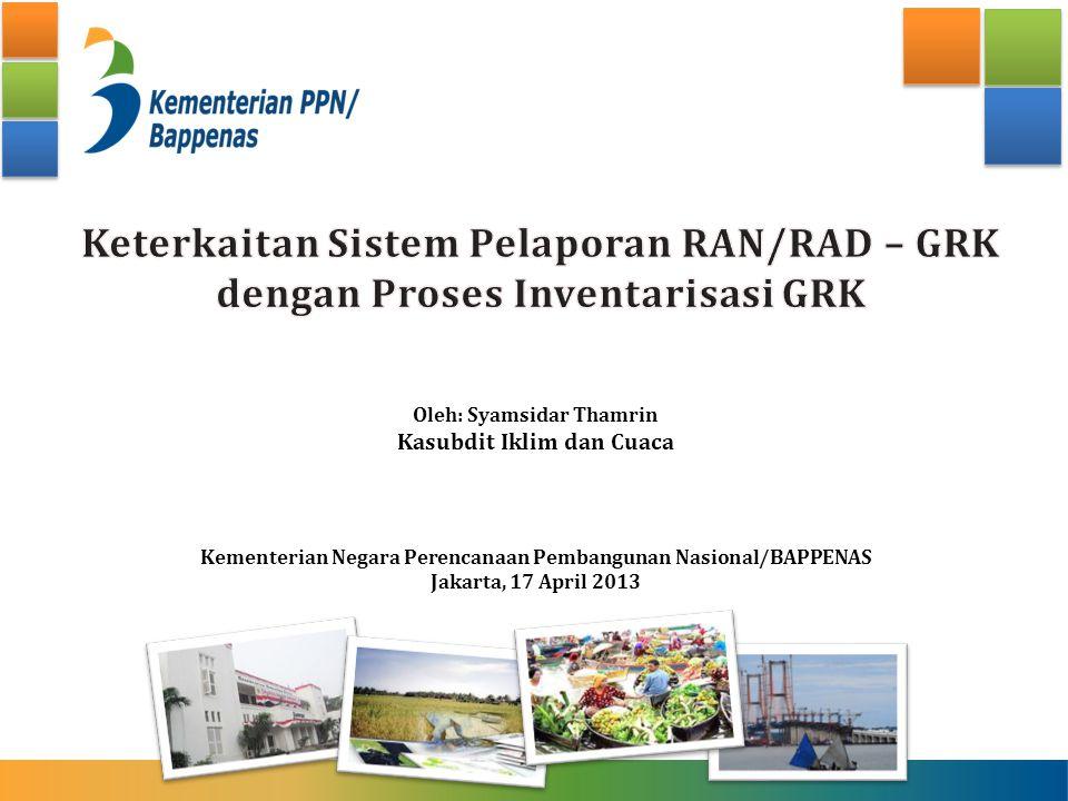 Keterkaitan Sistem Pelaporan RAN/RAD – GRK dengan Proses Inventarisasi GRK