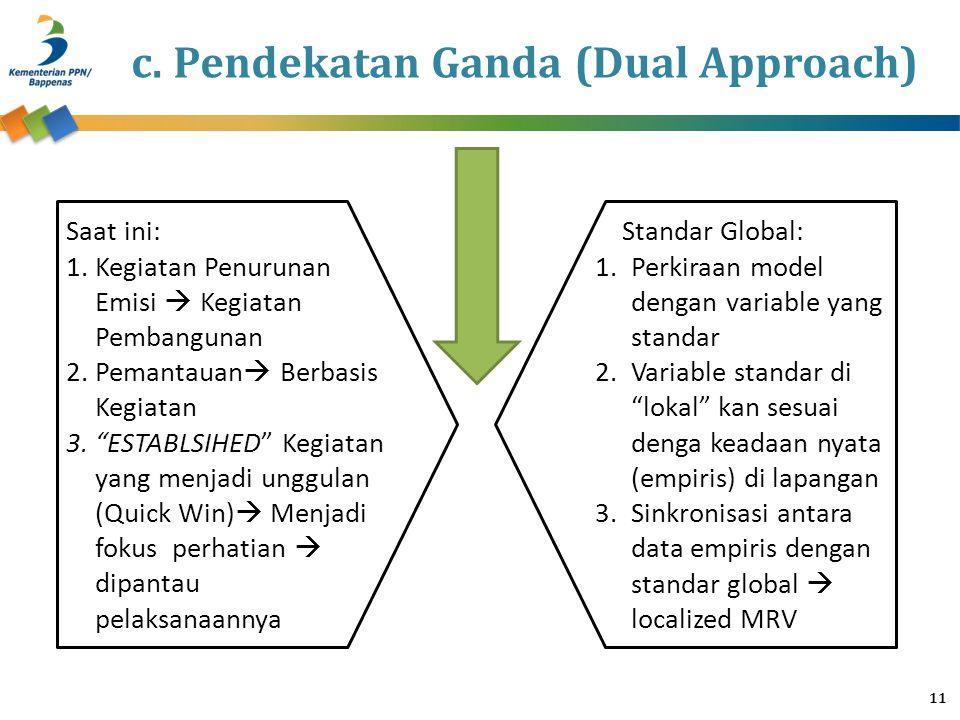 c. Pendekatan Ganda (Dual Approach)