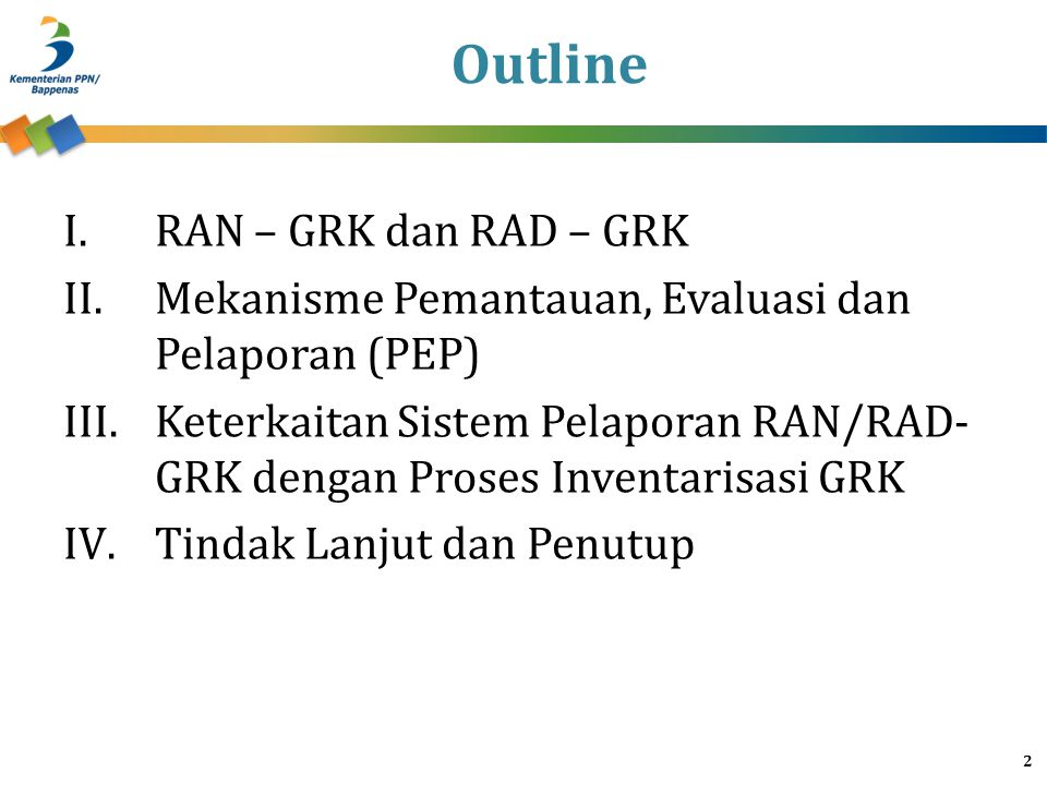 Outline RAN – GRK dan RAD – GRK