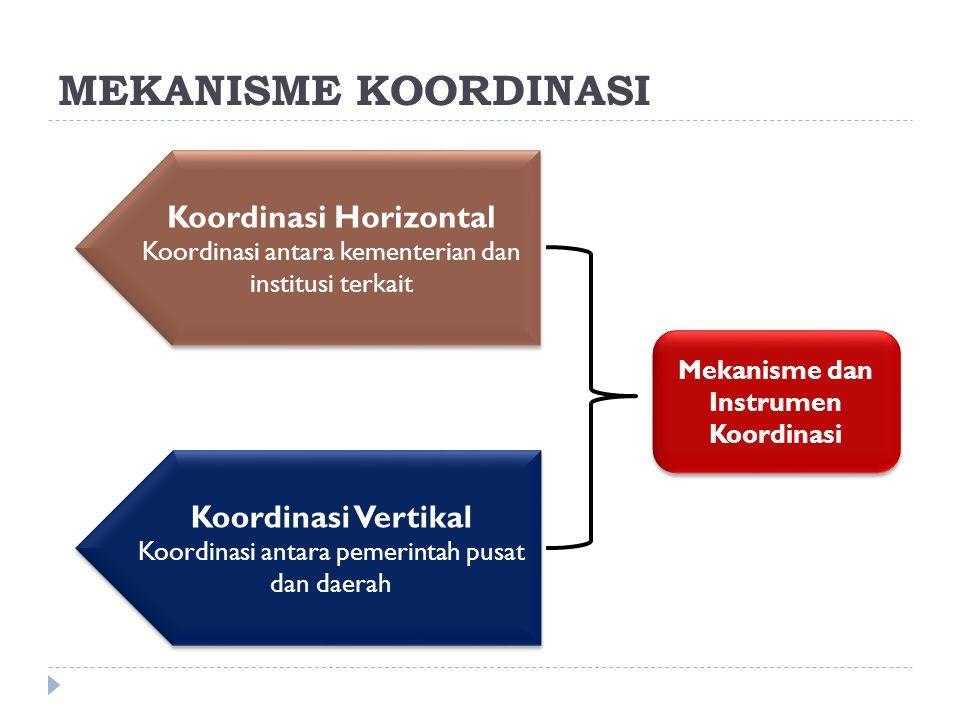 Koordinasi Horizontal Mekanisme dan Instrumen Koordinasi