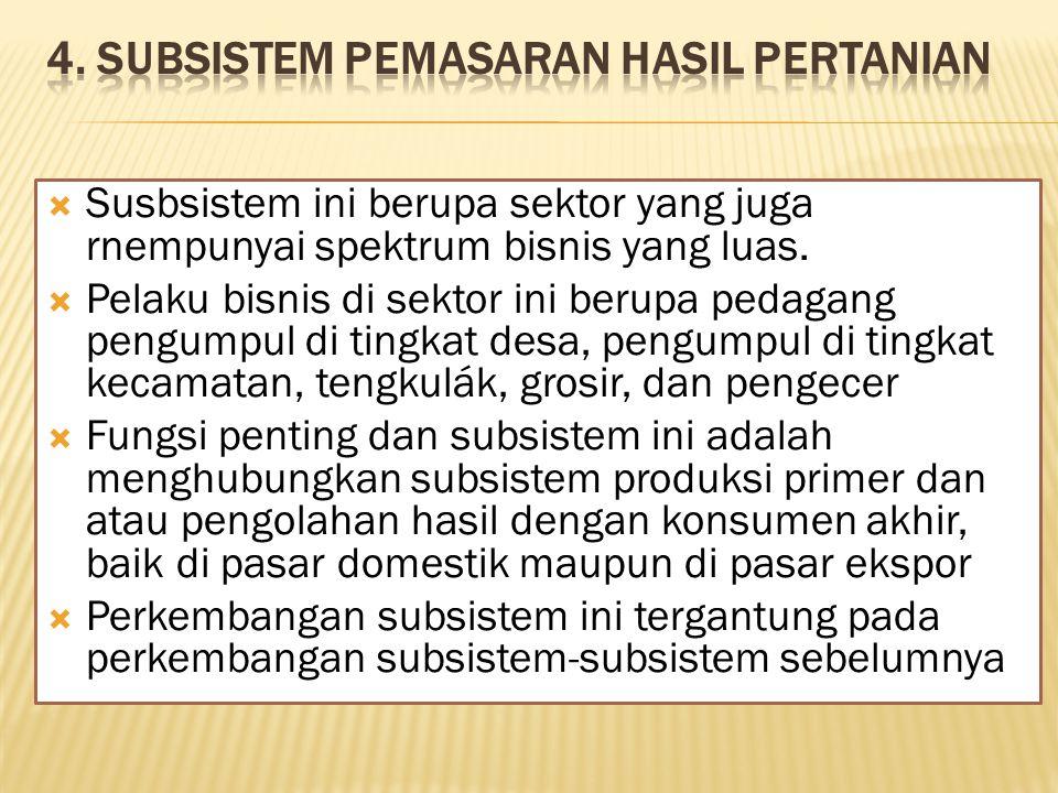 4. Subsistem Pemasaran Hasil Pertanian