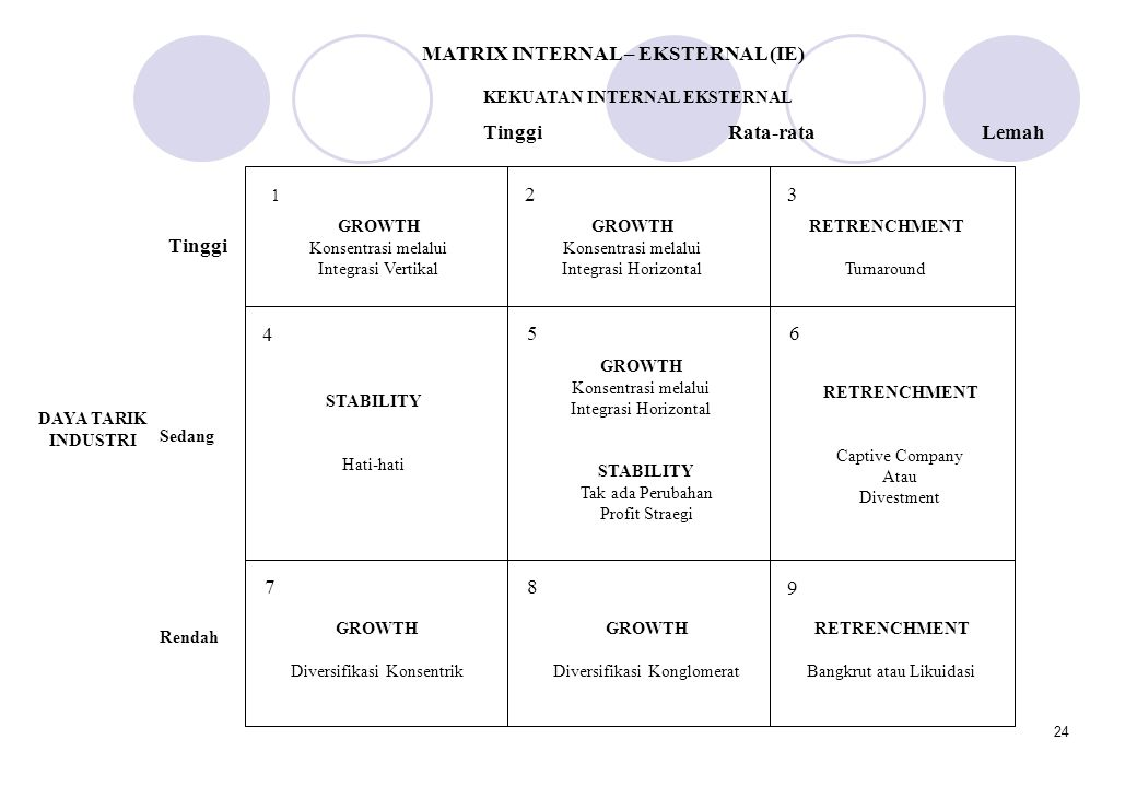MATRIX INTERNAL – EKSTERNAL (IE)