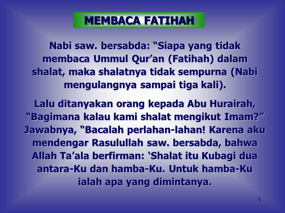 MEMBACA FATIHAH