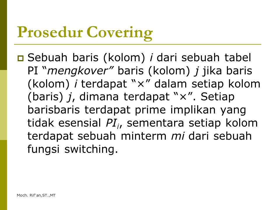 Prosedur Covering
