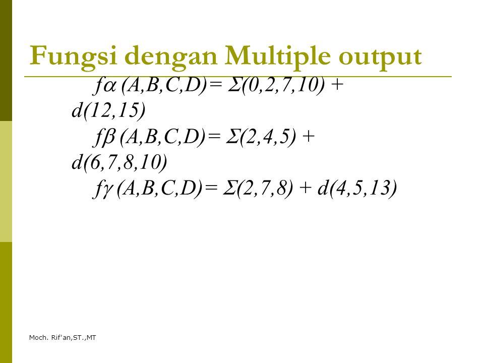 Fungsi dengan Multiple output