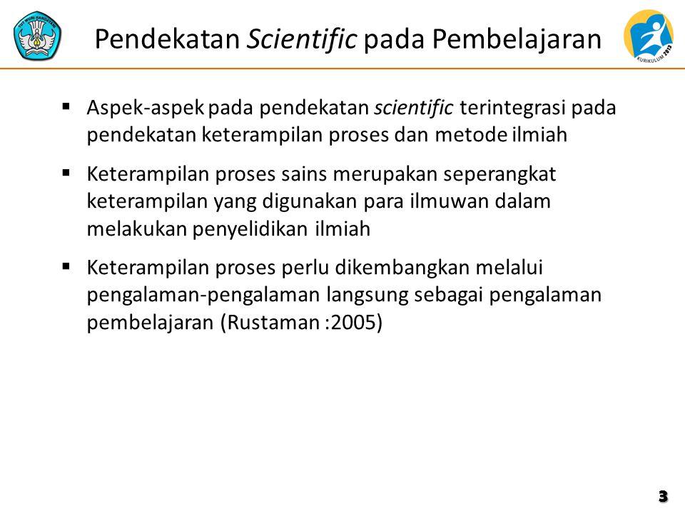 Pendekatan Scientific pada Pembelajaran