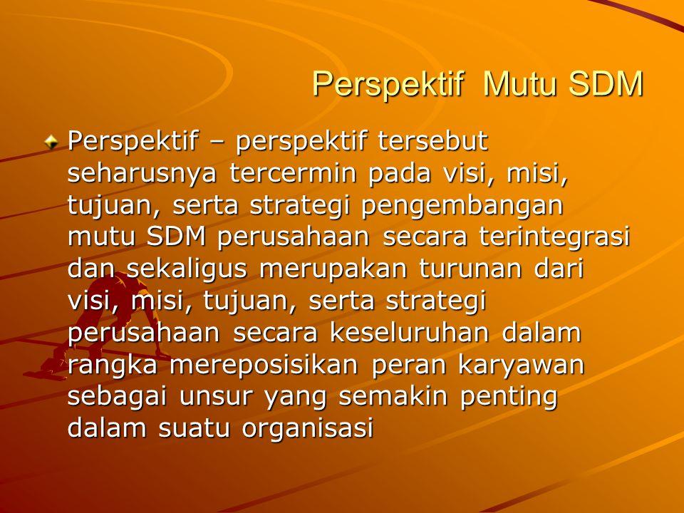 Perspektif Mutu SDM