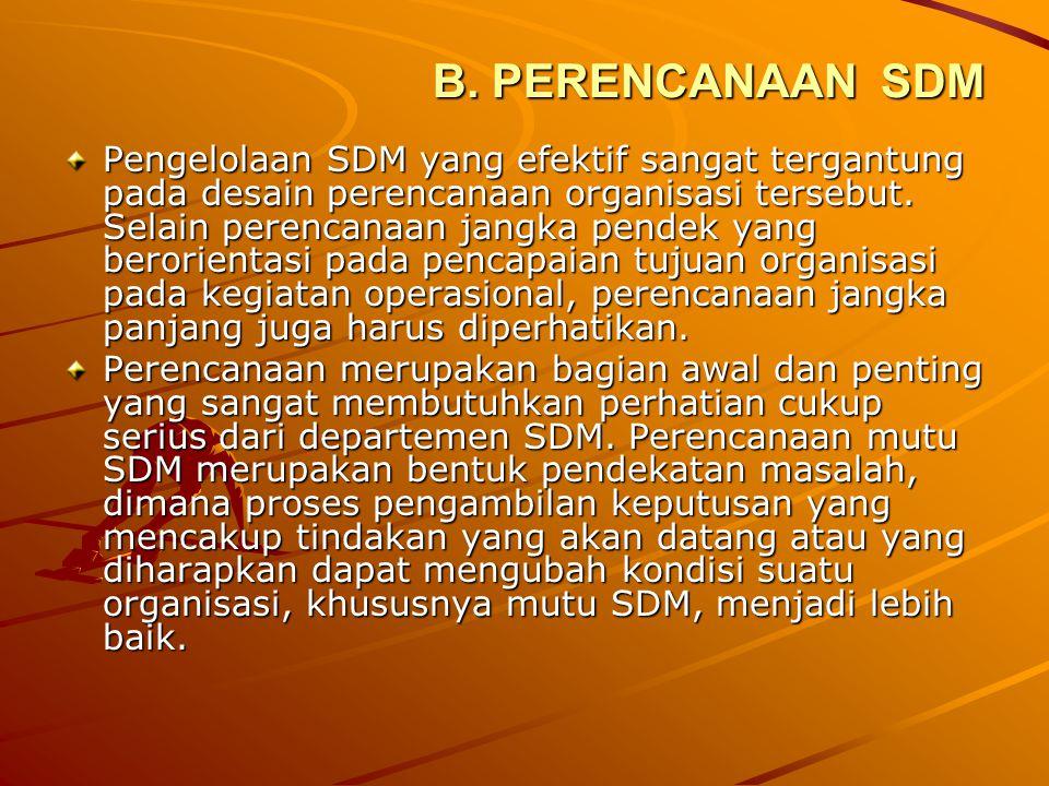 B. PERENCANAAN SDM