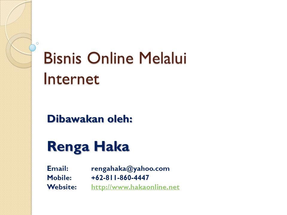 Bisnis Online Melalui Internet