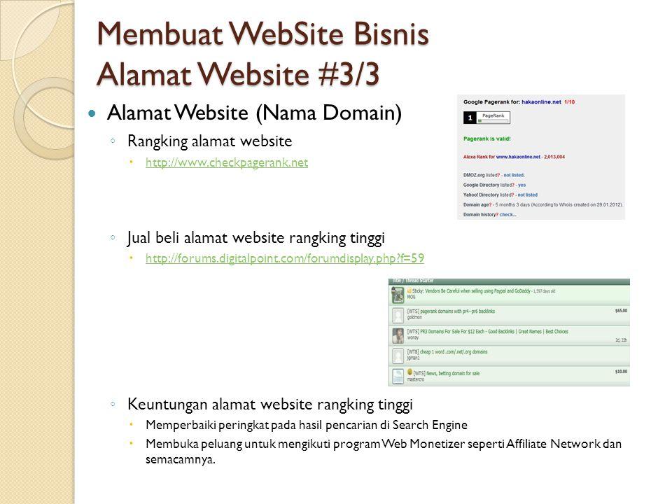Membuat WebSite Bisnis Alamat Website #3/3
