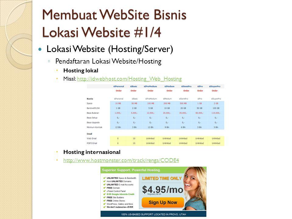 Membuat WebSite Bisnis Lokasi Website #1/4