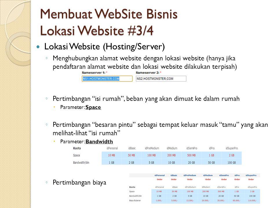 Membuat WebSite Bisnis Lokasi Website #3/4
