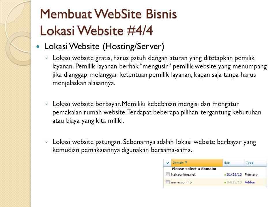 Membuat WebSite Bisnis Lokasi Website #4/4