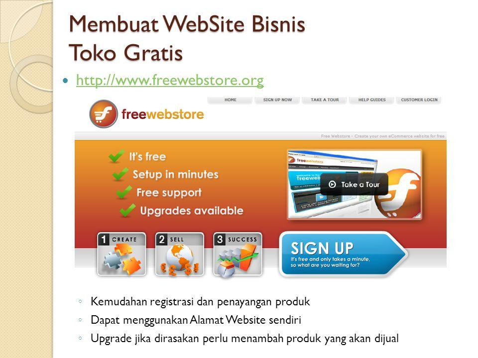 Membuat WebSite Bisnis Toko Gratis