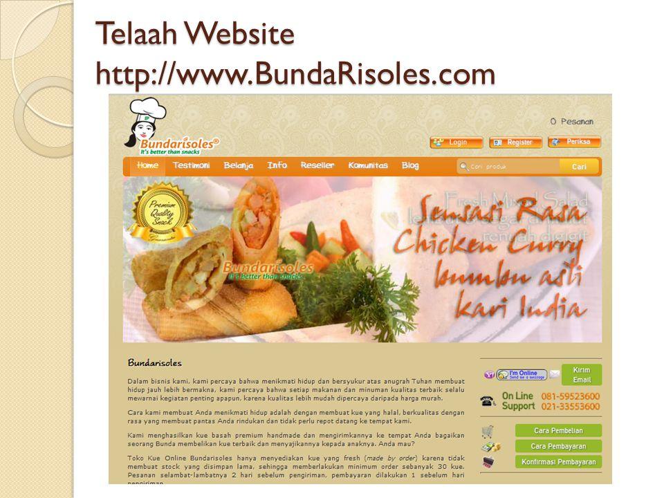Telaah Website http://www.BundaRisoles.com