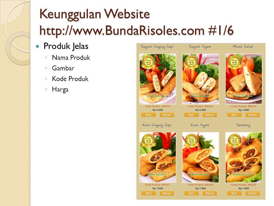 Keunggulan Website http://www.BundaRisoles.com #1/6