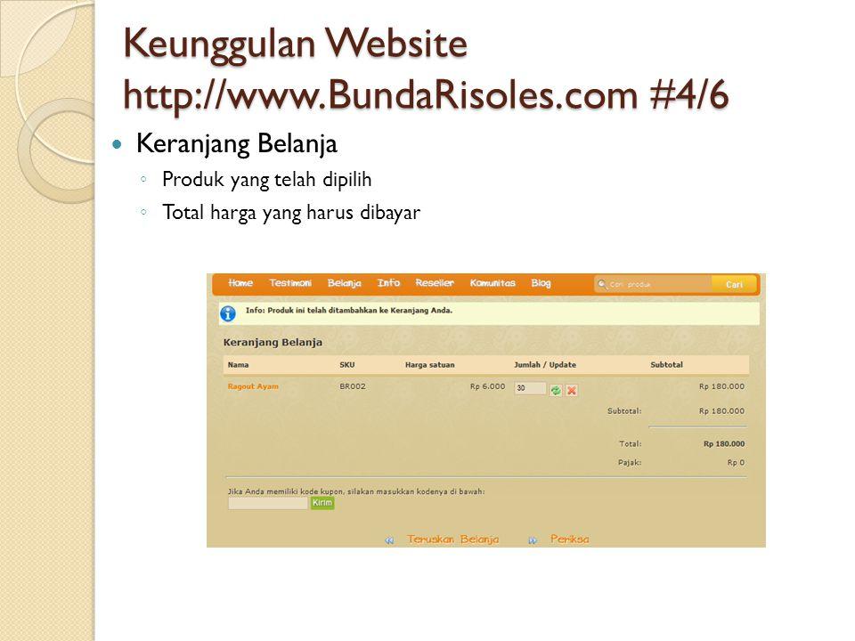 Keunggulan Website http://www.BundaRisoles.com #4/6