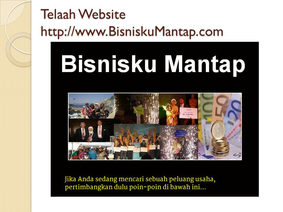 Telaah Website http://www.BisniskuMantap.com