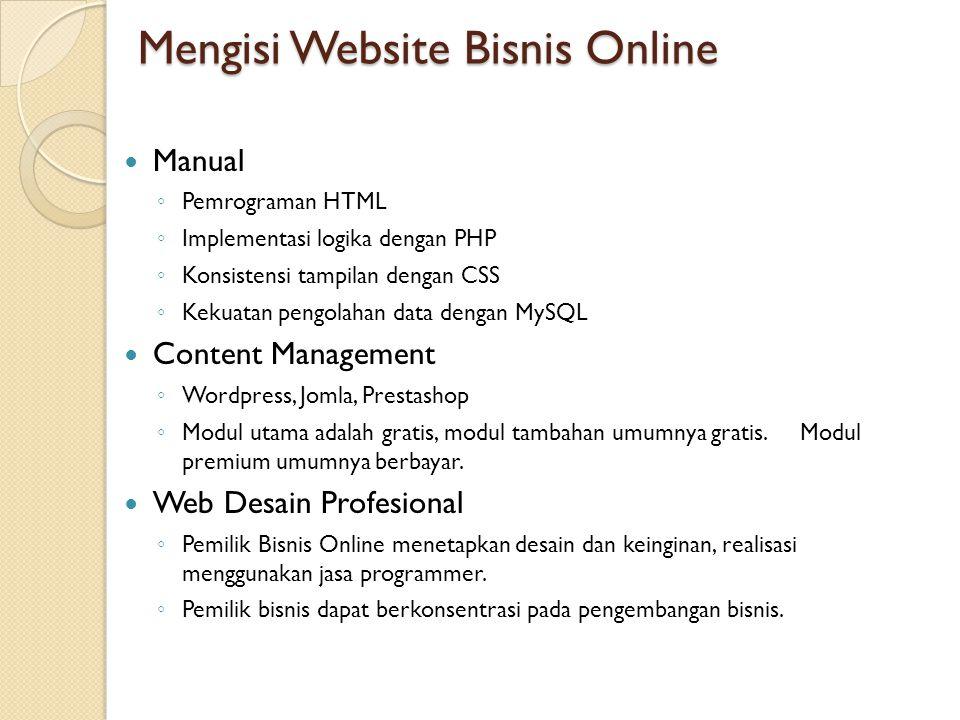 Mengisi Website Bisnis Online