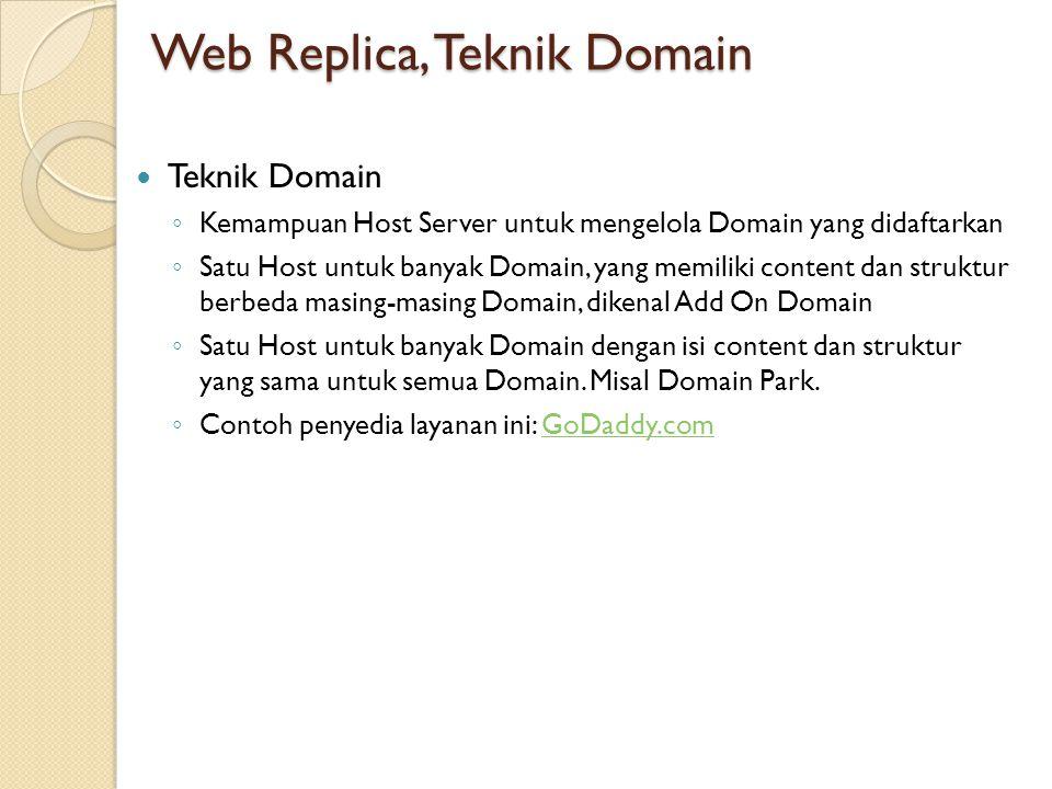 Web Replica, Teknik Domain