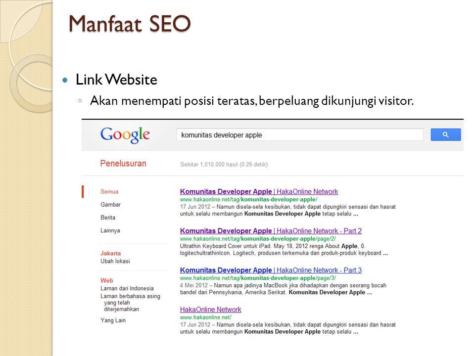 Manfaat SEO Link Website