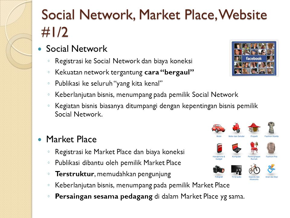 Social Network, Market Place, Website #1/2