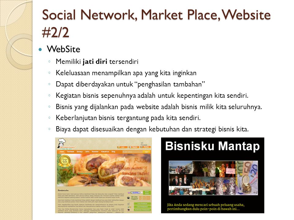 Social Network, Market Place, Website #2/2