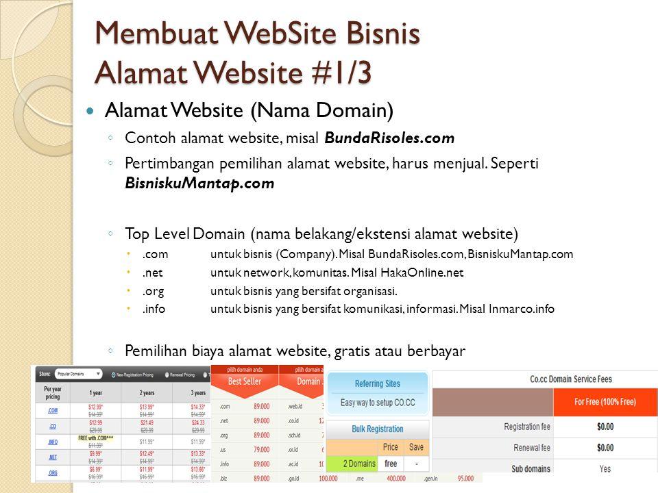 Membuat WebSite Bisnis Alamat Website #1/3