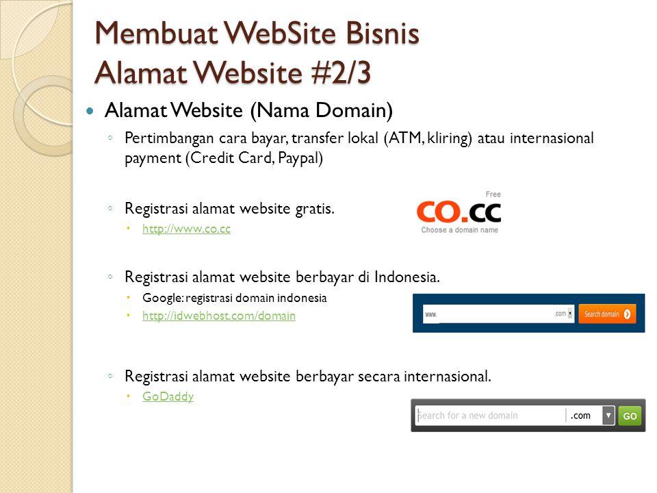 Membuat WebSite Bisnis Alamat Website #2/3