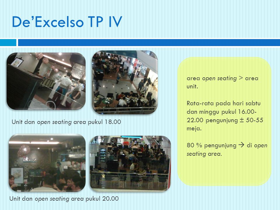 De'Excelso TP IV area open seating > area unit.