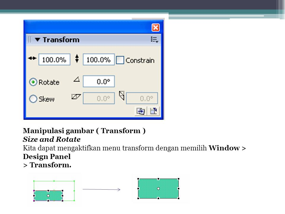 Manipulasi gambar ( Transform )